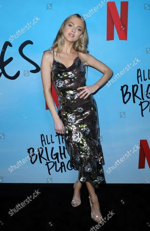 "Anne Winters arrives at the LA Special Screening of ""All The Bright Places"" at the ArcLight Cinemas Hollywood, in Los Angeles"