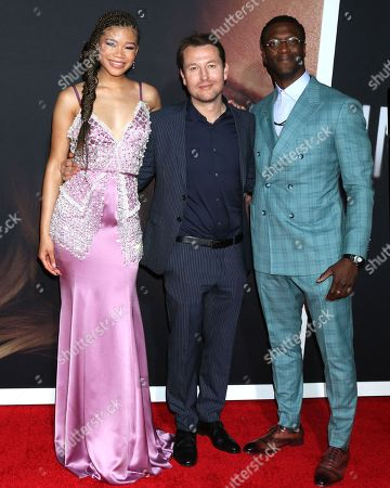Storm Reid, Leigh Whannell and Aldis Hodge