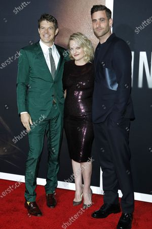 Jason Blum, Elisabeth Moss and Oliver Jackson-Cohen arrive for the premiere of the film 'The Invisible Man' at the TCL Chinese Theatre IMAX in Hollywood, California, USA, 24 February 2020. The movie opens in the USA on 28 February 2020.