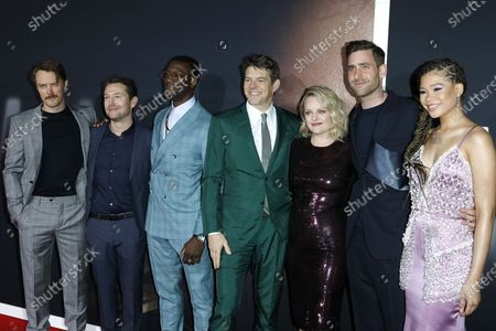 Leigh Whannell, Michael Dorman, Aldis Hodge, Jason Blum, Elisabeth Moss, Oliver Jackson-Cohen and Storm Reid arrive for the premiere of the film 'The Invisible Man' at the TCL Chinese Theatre IMAX in Hollywood, California, USA, 24 February 2020. The movie opens in the USA on 28 February 2020.