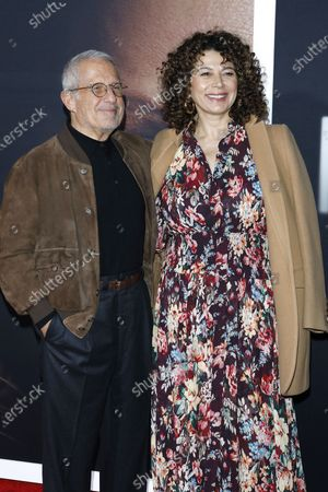 US talent agent Ron Meyer (L) and British producer Donna Langley (R) arrive for the premiere of the film 'The Invisible Man' at the TCL Chinese Theatre IMAX in Hollywood, California, USA, 24 February 2020. The movie opens in the USA on 28 February 2020.