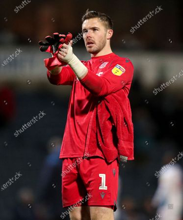 Stoke City goalkeeper Jack Butland at the end of the match