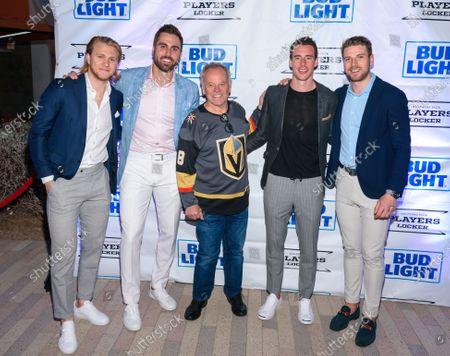 William Karlsson, Alex Kuch, Wolfgang Puck, Reilly Smith, Shea Theodore