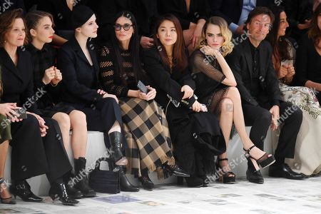 Stock Photo of Sigourney Weaver, Maya Thurman Hawke, Rachel Brosnahan, Demi Moore, Cara Delevingne and Karlie Kloss in the front row