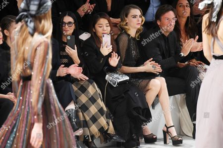 Stock Image of Demi Moore and Cara Delevingne in the front row