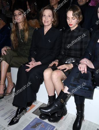 Sigourney Weaver and Maya Thurman Hawke in the front row