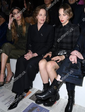 Stock Picture of Sigourney Weaver and Maya Thurman Hawke in the front row
