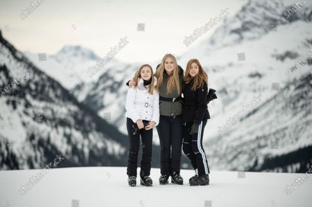 The Dutch Royal family, with Princess Ariana (L), Crown Princess Amalia (C) and Princess Alexia (R), pose during their annual photo session ahead of their private winter vacation in Lech am Arlberg, Austria, 25 February 2020.