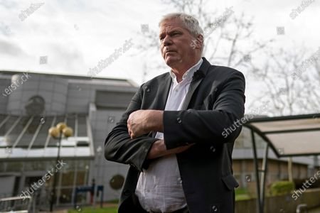 Kristinn Hrafnsson, editor-in-chief of WikiLeaks outside Woolwich Crown Court in London, Britain, 25 February 2020. Assange is facing extradition to the US on 18 charges and faces up to 175 years in prison if found guilty.
