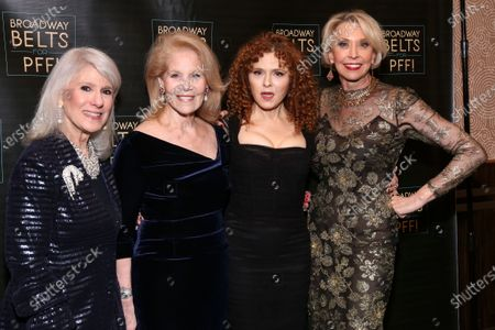 Jamie DeRoy, Daryl Roth, Bernadette Peters, and Julie Halston
