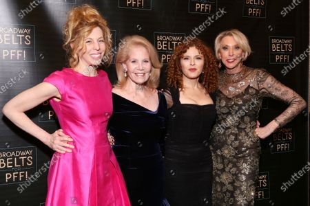 Maddie Corman, Daryl Roth, Bernadette Peters, and Julie Halston