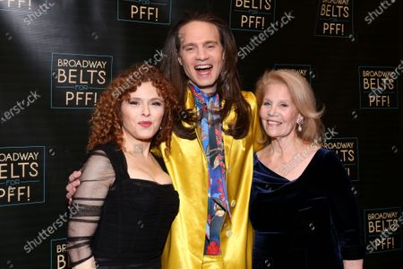 Bernadette Peters, Jordan Roth and Daryl Roth