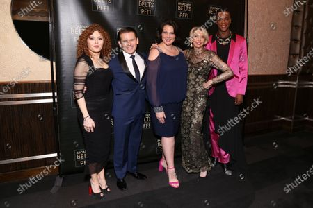 Bernadette Peters, Robert Creighton, Lisa Howard, Julie Halston, and J. Harrison Ghee