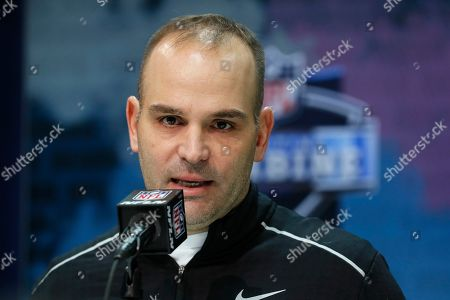 Jacksonville Jaguars general manager David Caldwell speaks during a press conference at the NFL football scouting combine in Indianapolis
