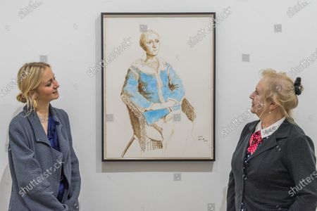 Editorial picture of 'David Hockney: Drawing from Life' exhibition, London, UK - 25 Feb 2020