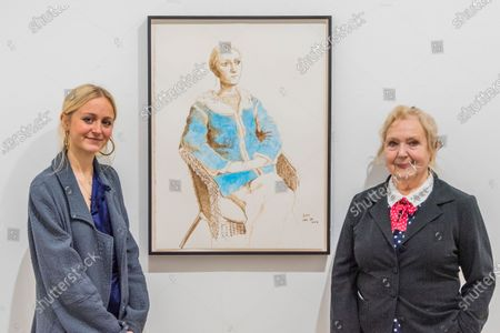 Editorial image of 'David Hockney: Drawing from Life' exhibition, London, UK - 25 Feb 2020