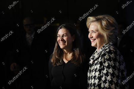 Hillary Clinton and Nanette Burstein.