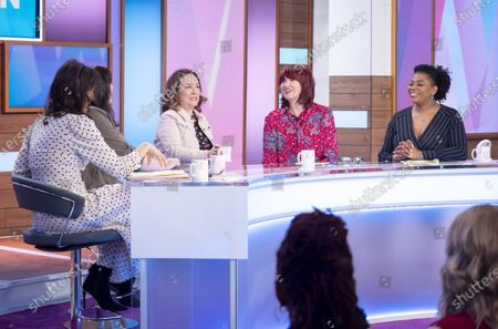 Andrea McLean, Coleen Nolan, Arabella Weir, Janet Street-Porter and Brenda Edwards