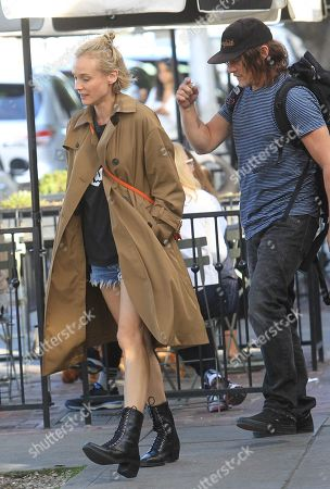 Stock Photo of Diane Kruger and Norman Reedus