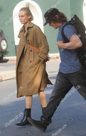 Editorial picture of Diane Kruger and Norman Reedus out and about, Los Angeles, USA - 24 Feb 2020
