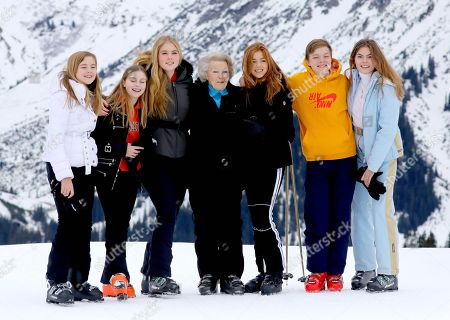 Princess Beatrix, Princess Amalia, Princess Alexia, Princess Ariane, Countess Eloise, Count Claus-Casimir and Countess Leonore