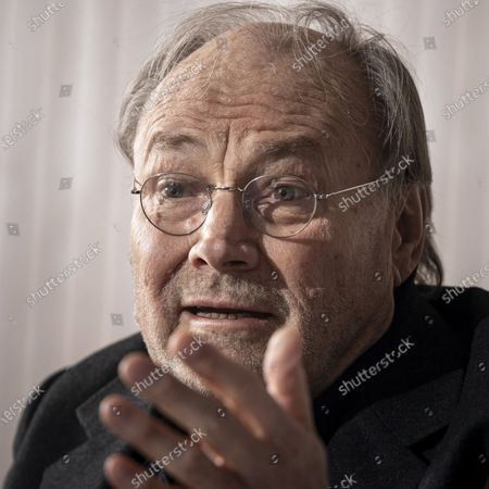 Klaus Maria Brandauer is portrayed during an interview with MTI news agency in Budapest, Hungary, 24 February 2020 (issued 25 February 2020). The Golden Globe Award winning actor is to attend the premiere of his latest movie Zarojelentes (Final Report) tonight as guest of honour at the Hungarian Film Prize 2020 - Hungarian Motion Picture Review. Brandauer plays the main character in the Hungarian drama, which was directed by a long-time collaborator Istvan Szabo. In Hungary the movie will be presented in cinemas from 27 February.