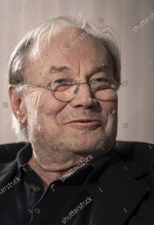 Stock Photo of Klaus Maria Brandauer is portrayed during an interview with MTI news agency in Budapest, Hungary, 24 February 2020 (issued 25 February 2020). The Golden Globe Award winning actor is to attend the premiere of his latest movie Zarojelentes (Final Report) tonight as guest of honour at the Hungarian Film Prize 2020 - Hungarian Motion Picture Review. Brandauer plays the main character in the Hungarian drama, which was directed by a long-time collaborator Istvan Szabo. In Hungary the movie will be presented in cinemas from 27 February.