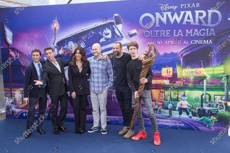 Dan Scanlon, and the Italian voices Sabrina Ferilli, Fabio Volo, Favij, Raul Cremona, David Parenz