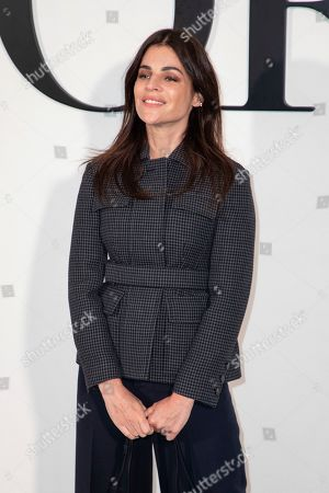Julia Restoin Roitfeld arrives for the Dior fashion collection during Women's fashion week Fall/Winter 2020/21 presented in Paris