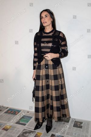 Demi Moore arrives for the Dior fashion collection during Women's fashion week Fall/Winter 2020/21 presented in Paris