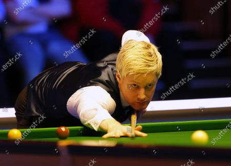 Neil Robertson (AUS) at the table during his first round match against Joe Perry (ENG)