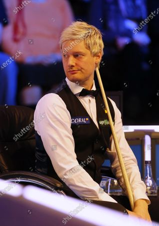 Neil Robertson (AUS) looks on during his first round match against Joe Perry (ENG)