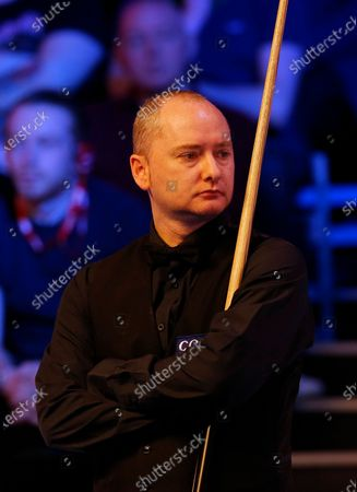 Stock Image of Graeme Dott (SCO) waits to return to the table during his first round match against John Higgins (SCO)