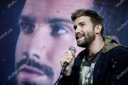 Pablo Alboran participates during a press conference in the framework of the Vina del Mar International Song Festival, in Vina del Mar, Chile, 25 February 2020.