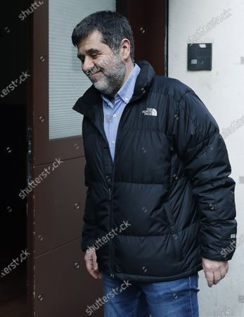 Former president of Catalan pro-independence group ANC Jordi Sanchez reacts as he arrives at the CanPedro charity foundation in Barcelona, Catalonia, northeastern Spain, 25 February 2020. Sanchez is on his second prison for furlough to take part in a volunteering charity job, after being imprisoned for 860 days following the Spanish Supreme Court sentence of nine years and half for sedition and rebellion for his role in the Catalan illegal independence referendum back in 2017.