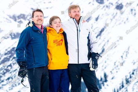 King Willem-Alexander of the Netherlands with Prince Constantijn and Count Claus-Casimir