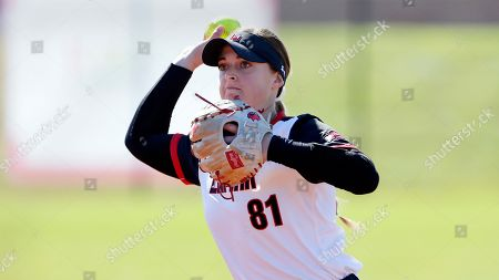 Lamar pitcher Jade Lewis during an NCAA softball game, in Beaumont, Texas