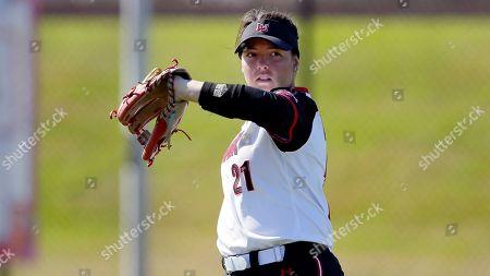 Lamar infielder Taylor Murphy during an NCAA softball game, in Beaumont, Texas