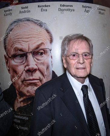 Stock Picture of Istvan Szabo attends the premiere of his latest movie Zarojelentes (Final Report) in Corvin Cinema in Budapest, Hungary, 25 February 2020. The drama, which stars Austrian actor Klaus Maria Brandauer, will be presented in cinemas from 27 February in Hungary.