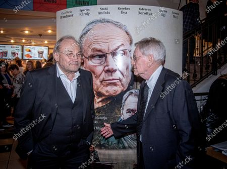 Stock Image of Klaus Maria Brandauer (L) and Hungarian filmmaker Istvan Szabo attend the premiere of their movie Zarojelentes (Final Report) in Corvin Cinema in Budapest, Hungary, 25 February 2020. The drama will be presented in cinemas from 27 February in Hungary.