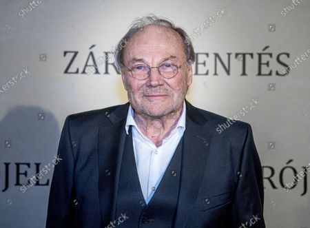 Klaus Maria Brandauer attends the premiere of his latest movie Zarojelentes (Final Report) in Corvin Cinema in Budapest, Hungary, 25 February 2020. The drama, which was directed by Hungarian filmmaker Istvan Szabo, will be presented in cinemas from 27 February in Hungary.