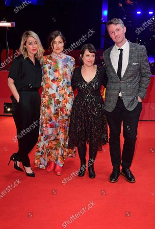 Scott Cummings, Eliza Hittman, Adele Romanski and Sara Murphy arrive for the premiere of 'Never Rarely Sometimes Always' during the 70th annual Berlin International Film Festival (Berlinale), in Berlin, Germany, 25 February 2020. The movie is presented in the Official Competition at the Berlinale that runs from 20 February to 01 March 2020.