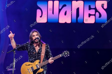 Juanes performs on stage during his concert on occasion of the Las Palmas de Gran Canaria carnival celebrations in Canary Islands, Spain, 25 February 2020.