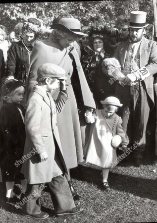 Duke And Duchess Of Gloucester The Duke And Duchess Of Gloucester Presented The Prizes Today In The Park Accompanied By Their Three Children The Earl Of Ulster 9 Lady Davina Windsor 6 And A Right Pickle In Lady Rose Windsor 3 Who Continuously Punched And Kicked Her Mother Until Nannie Took Her Away....royalty