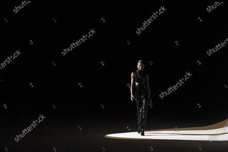 Editorial photo of Yves Saint Laurent - Runway - Paris Fashion Week Women's FW 2020/21, France - 25 Feb 2020