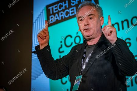 Ferran Adria Acosta, founder of the award-winning El Bullí restaurant in Cala Montjoi speaking during the event. First day of Tech Spirit Barcelona, an improvised alternative congress to Mobile World Congress 2020 (MWC2020), which aims at gathering new talents, business innovation and sponsors to promote the creation of new business initiatives.
