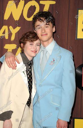 Stock Image of Sophia Lillis and Wyatt Oleff