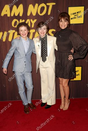 Stock Picture of Aidan Wojtak-Hissong, Sophia Lillis and Kathleen Rose Perkins
