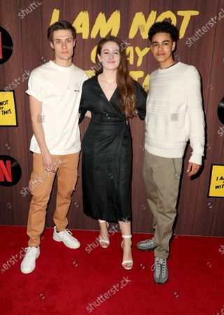 Stock Picture of Gijs Blom, Ruby Serkis and Amir Wilson