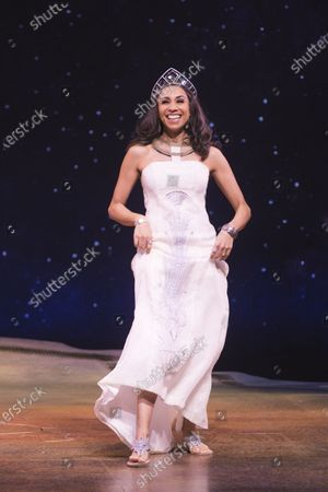 Debbie Kurup (Queen Tuya) during the curtain call